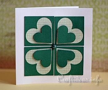 St. Patrick's Day Card With a Shamrock - Craft Ideas