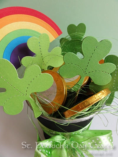 St. Patrick's Day Craft - Pot of Gold, Shamrocks and Rainbow 1