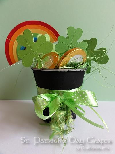St. Patrick's Day Craft - Pot of Gold, Shamrocks and Rainbow 2