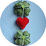 Terrycloth Shamrock and Heart Wall Decoration